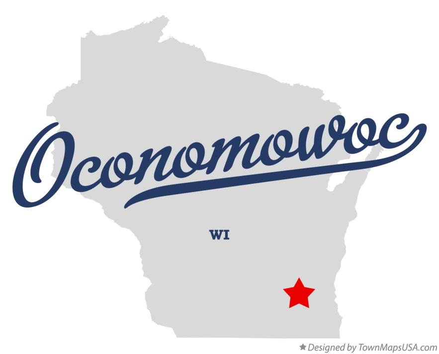 Map of Oconomowoc Wisconsin WI