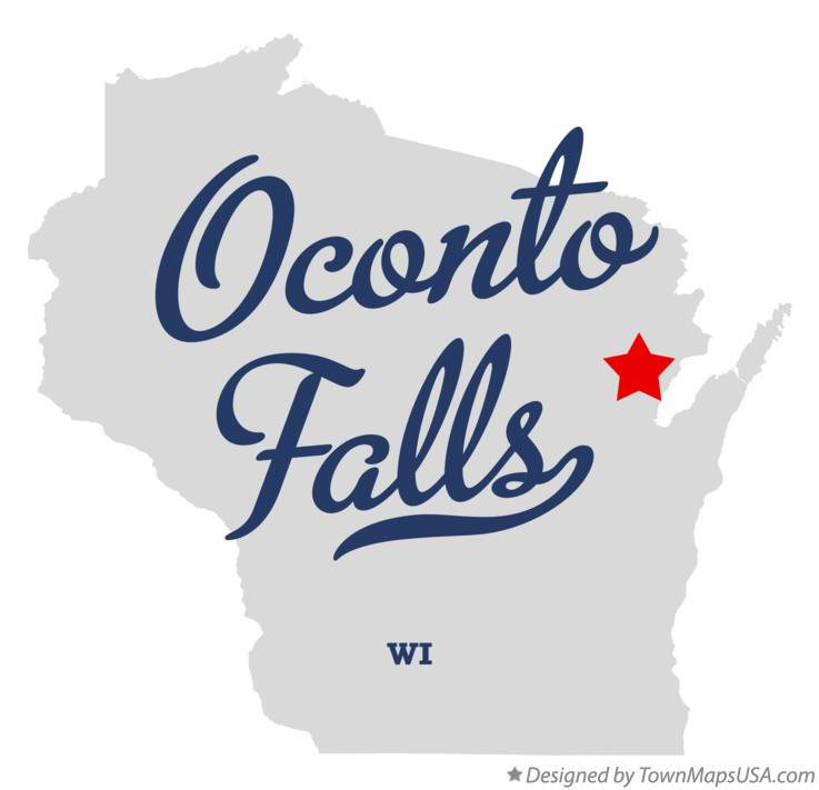 Map of Oconto Falls Wisconsin WI