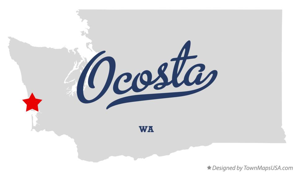 Map of Ocosta Washington WA