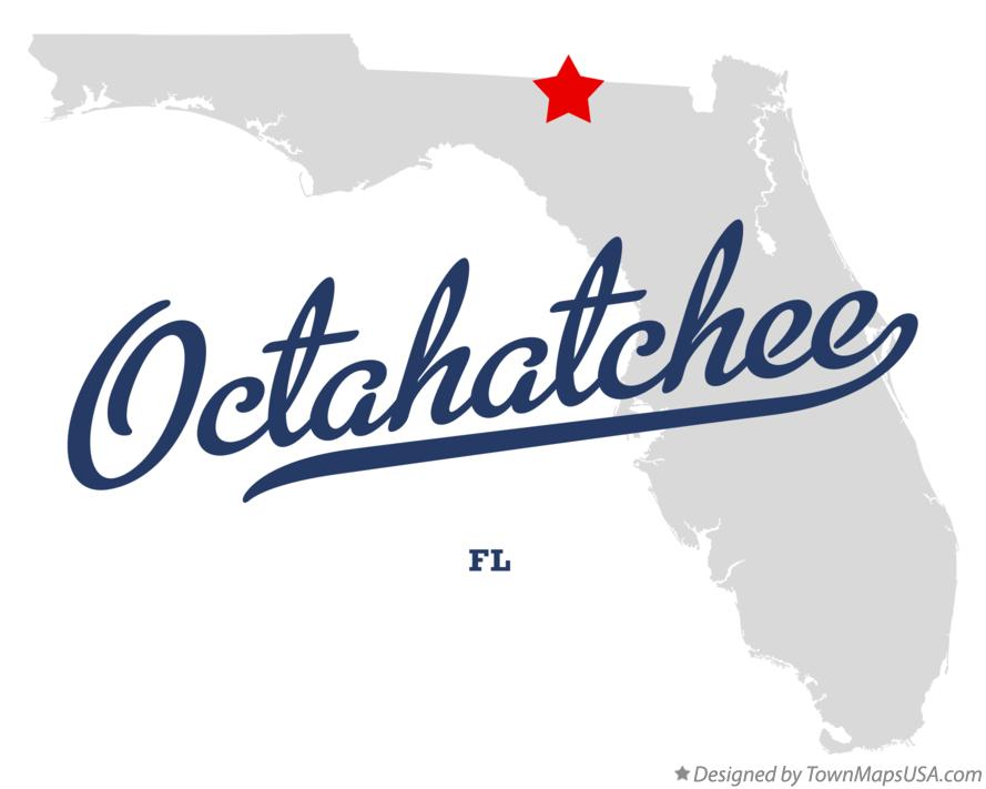 Map of Octahatchee Florida FL