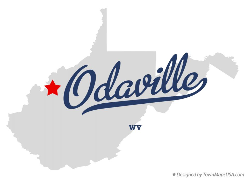Map of Odaville West Virginia WV