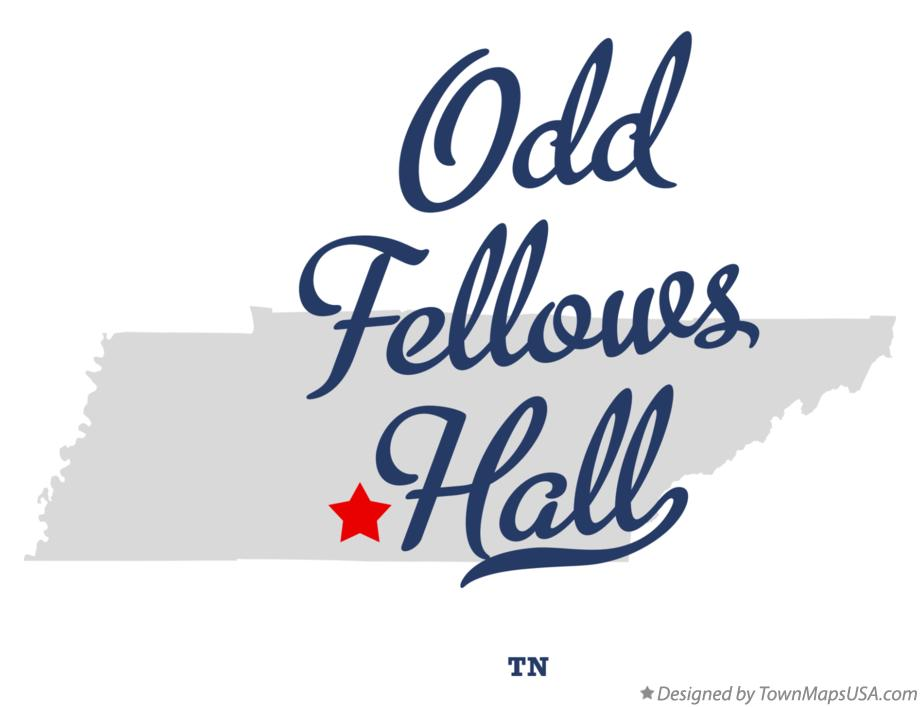 Map of Odd Fellows Hall Tennessee TN