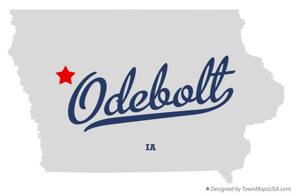 Map of Odebolt Iowa IA