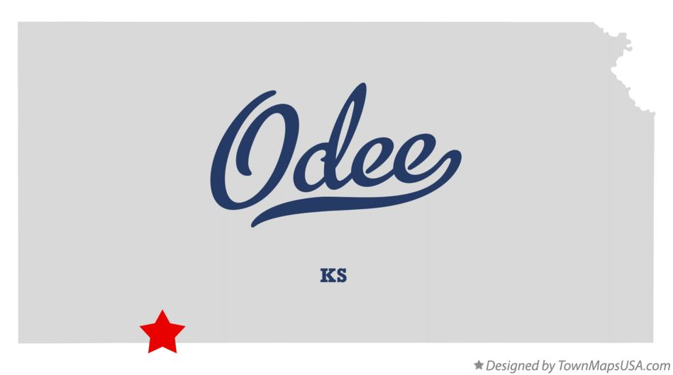 Map of Odee Kansas KS
