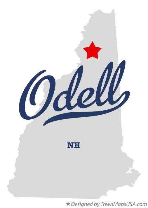 Map of Odell New Hampshire NH