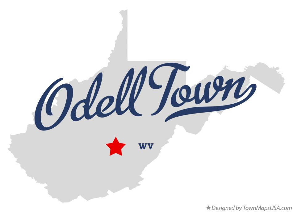 Map of Odell Town West Virginia WV