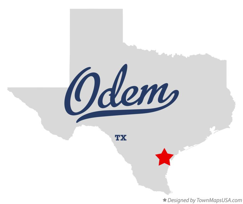 Map of Odem Texas TX