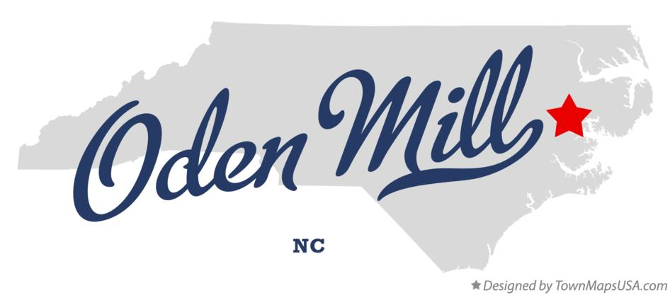 Map of Oden Mill North Carolina NC
