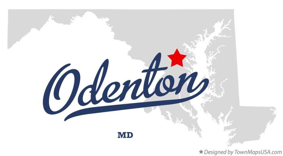 Map of Odenton Maryland MD