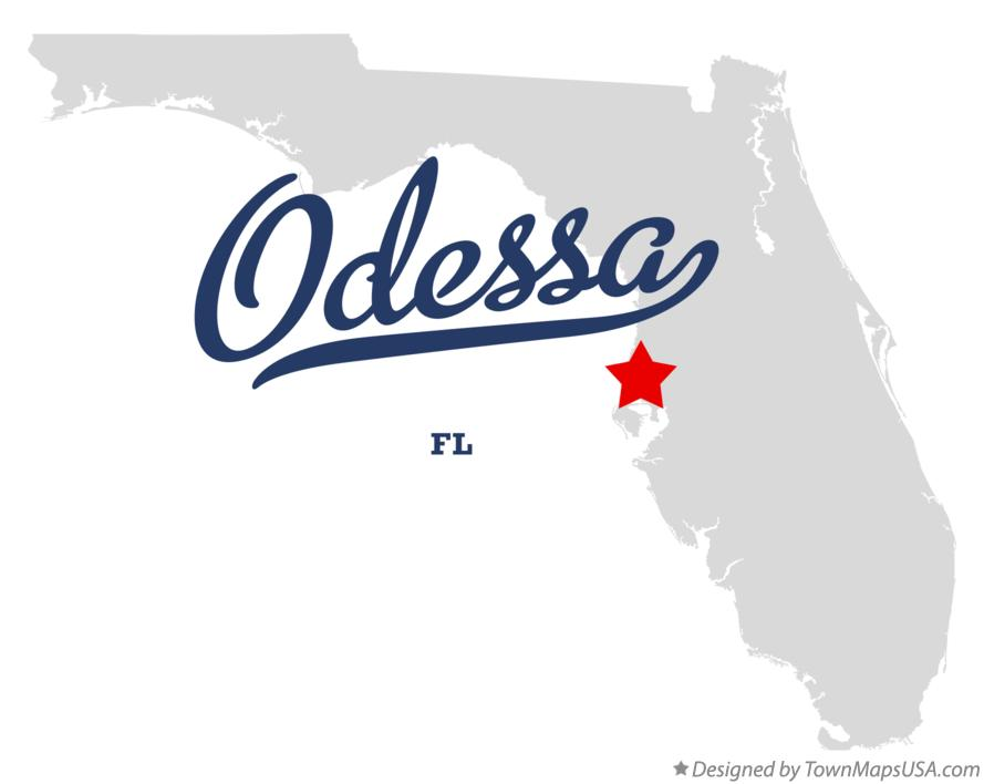 Map of Odessa Florida FL
