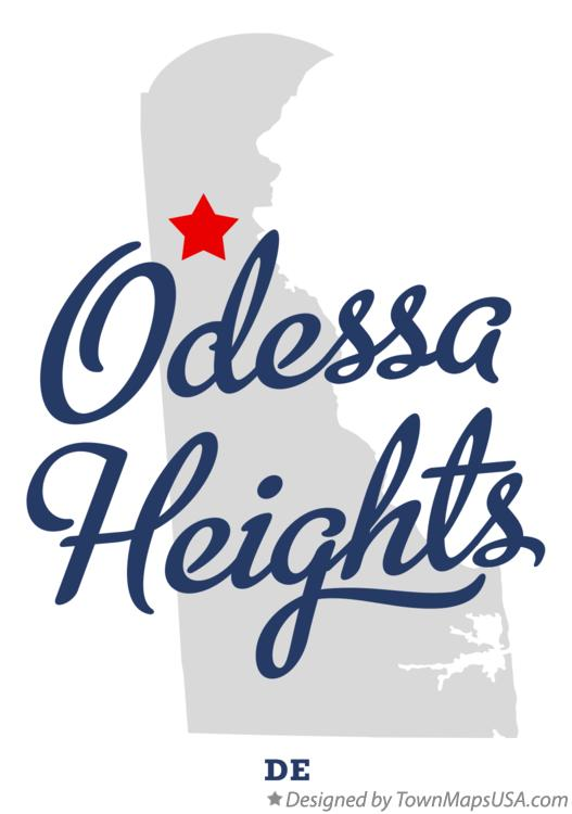 Map of Odessa Heights Delaware DE