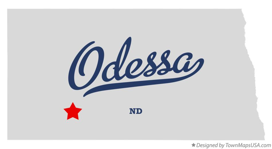 Map of Odessa North Dakota ND