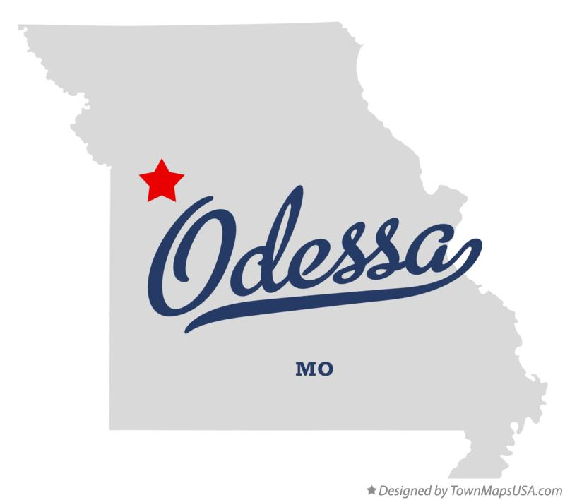 Map of Odessa Missouri MO