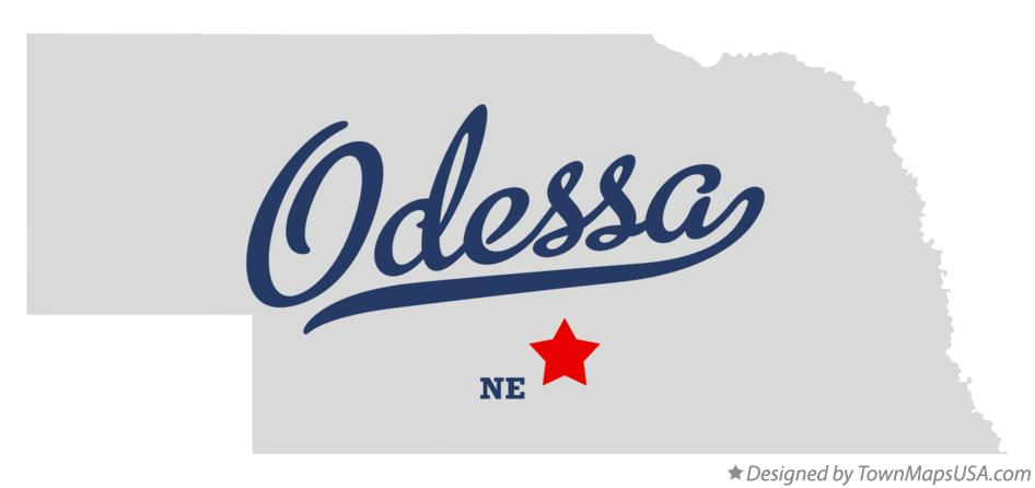 Map of Odessa Nebraska NE