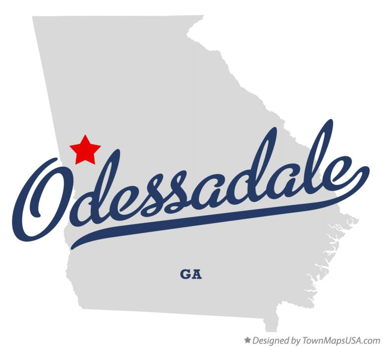 Map of Odessadale Georgia GA