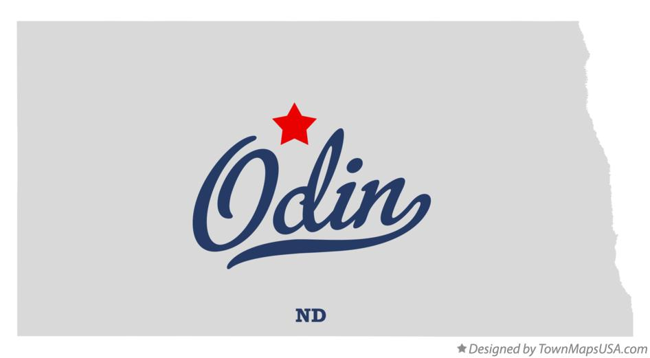 Map of Odin North Dakota ND