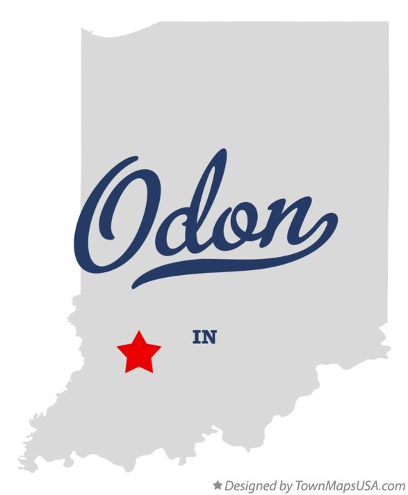 Map of Odon Indiana IN