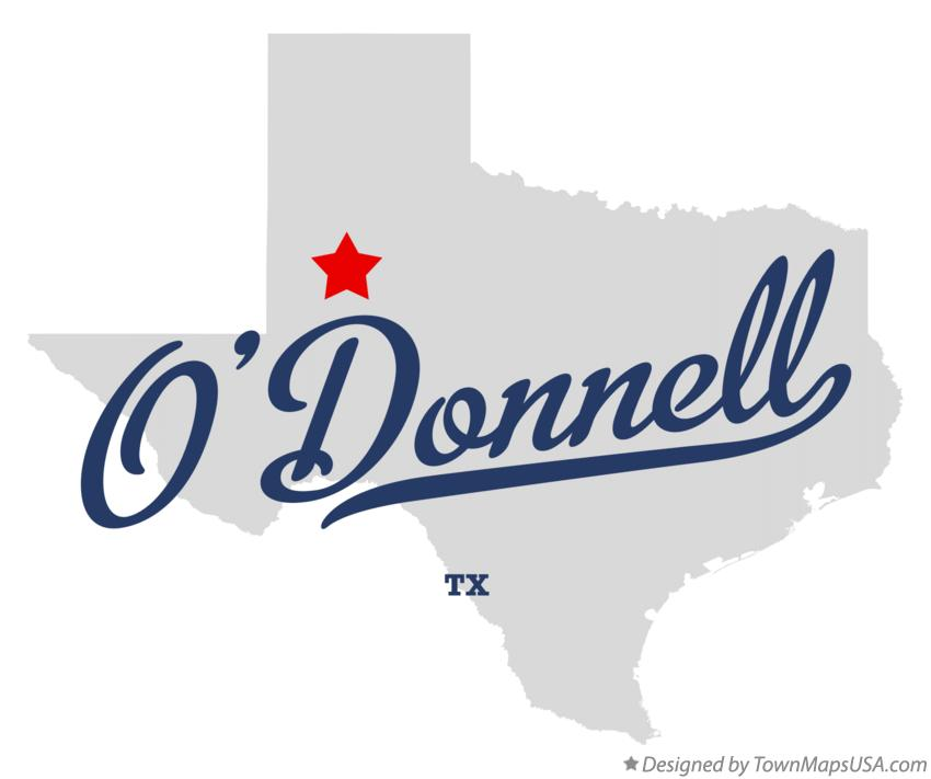 Map of O'Donnell Texas TX