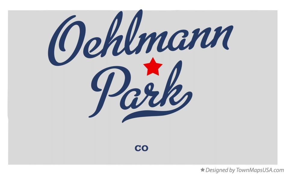 Map of Oehlmann Park Colorado CO
