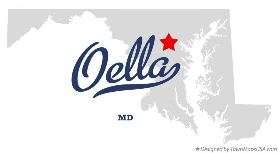 Map of Oella Maryland MD
