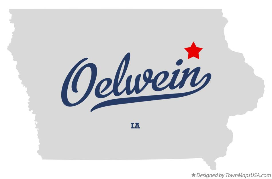 Map of Oelwein Iowa IA