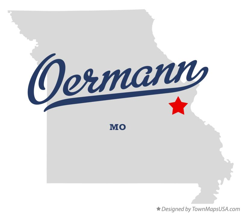 Map of Oermann Missouri MO