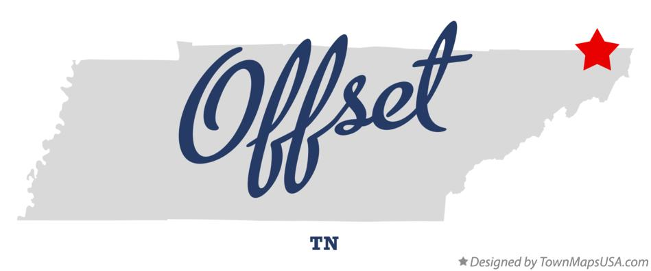 Map of Offset Tennessee TN