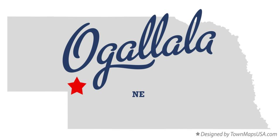 Map of Ogallala Nebraska NE