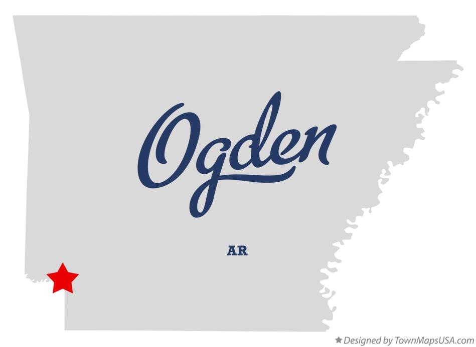 Map of Ogden Arkansas AR