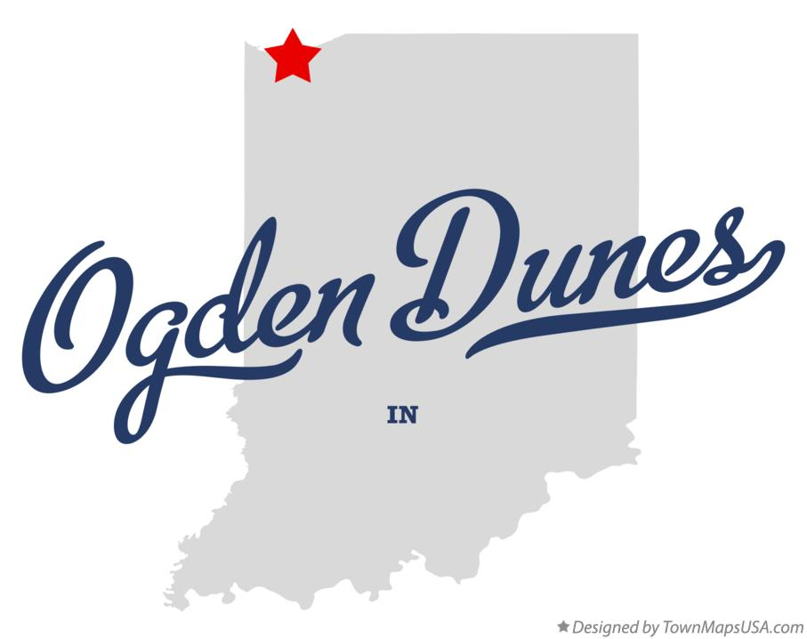Map of Ogden Dunes Indiana IN
