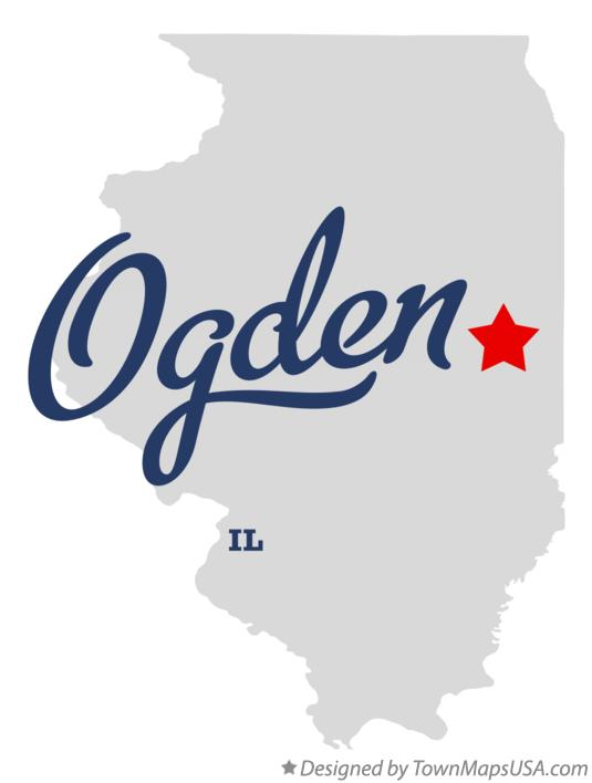 Map of Ogden Illinois IL