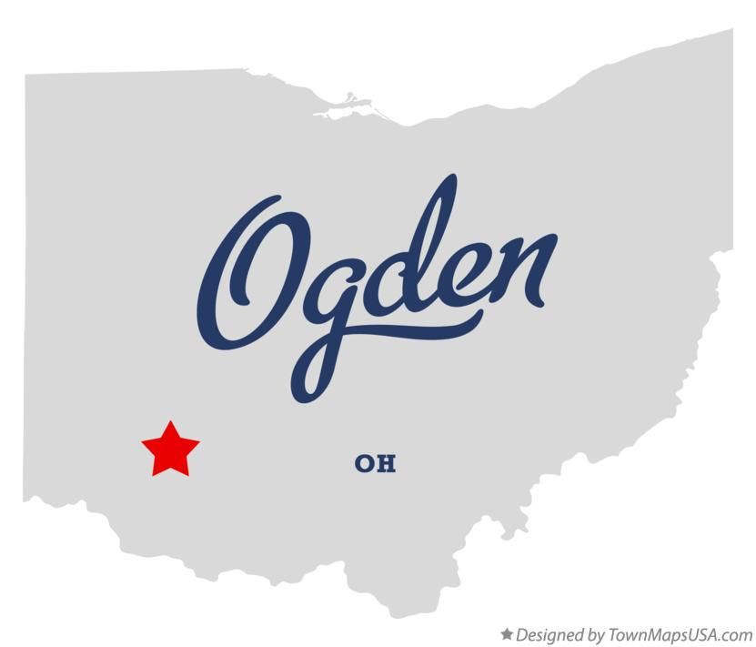 Map of Ogden Ohio OH