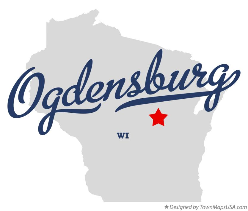 Map of Ogdensburg Wisconsin WI