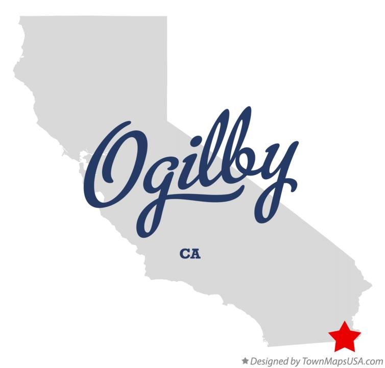 Map of Ogilby California CA