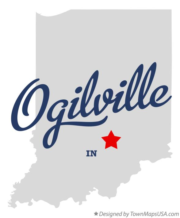 Map of Ogilville Indiana IN