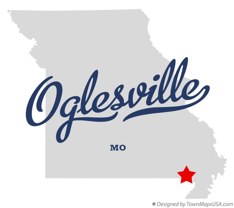 Map of Oglesville Missouri MO