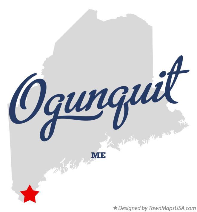 Map Of Ogunquit Me Maine