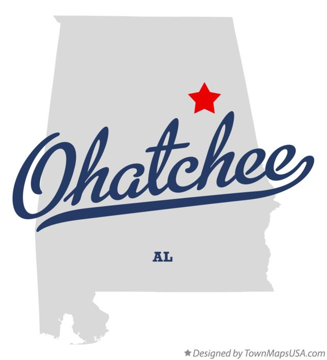 Map of Ohatchee Alabama AL