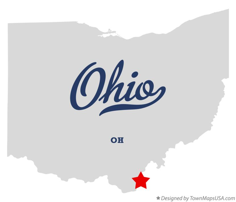 Map of Ohio Ohio OH