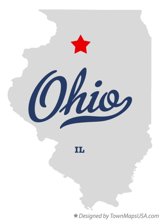 Map of Ohio Illinois IL