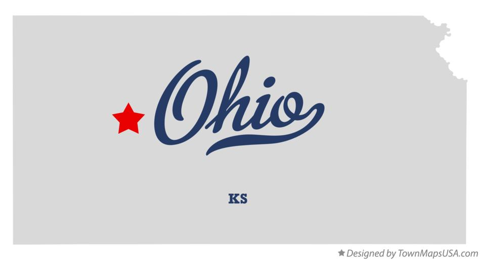 Map of Ohio Kansas KS