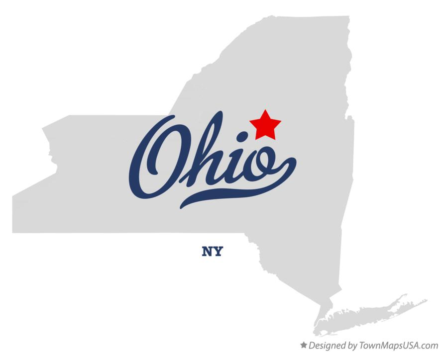 Map of Ohio New York NY