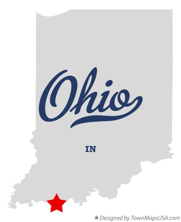 Map of Ohio Indiana IN