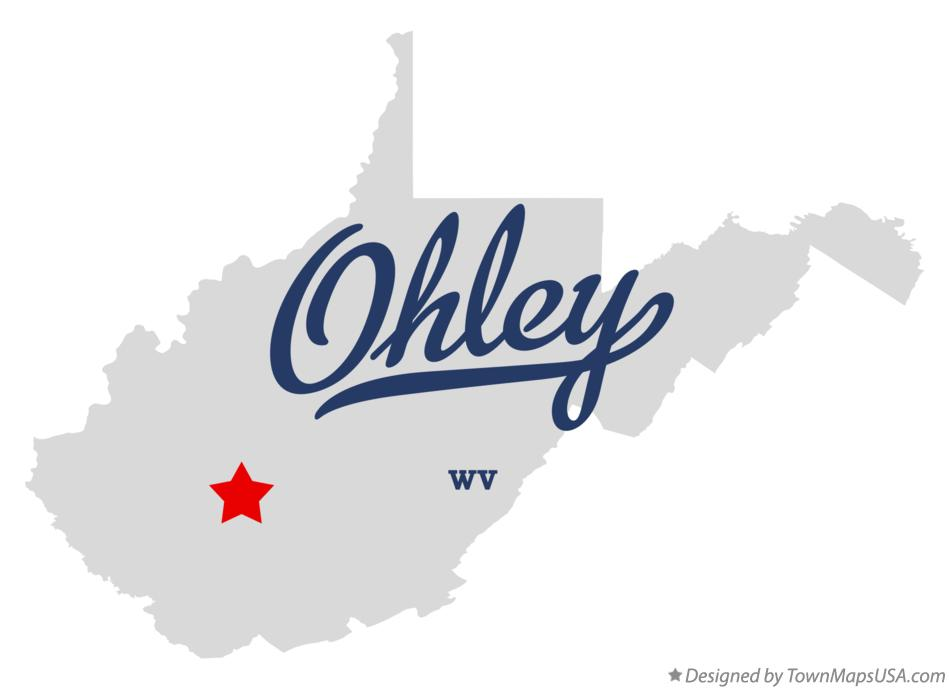 Map of Ohley West Virginia WV