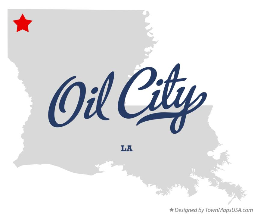 Map of Oil City Louisiana LA