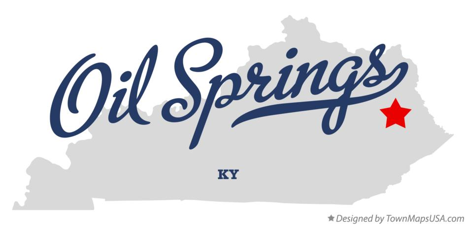Map of Oil Springs Kentucky KY