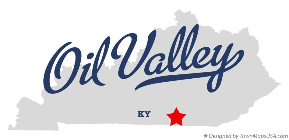 Map of Oil Valley Kentucky KY