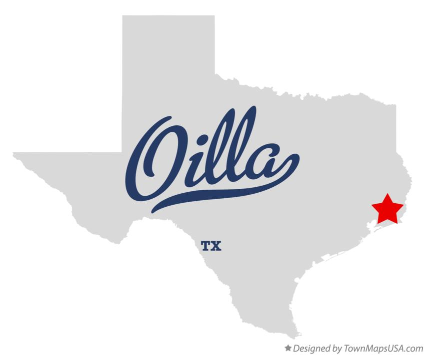 Map of Oilla Texas TX