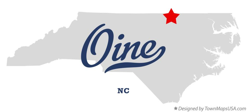 Map of Oine North Carolina NC