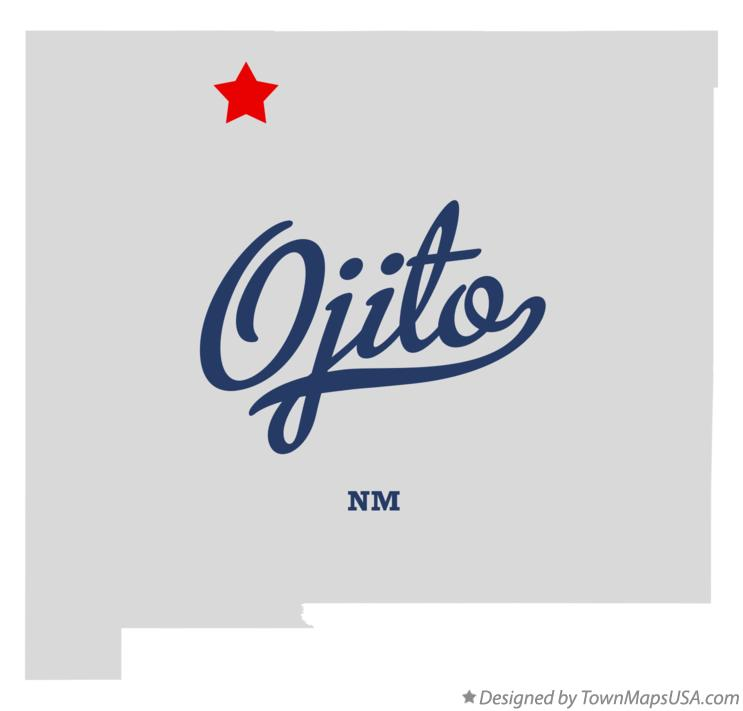 Map of Ojito New Mexico NM
